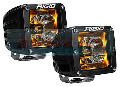 "Pair Of Rigid Industries Radiance 20204 12V 3"" Led Pods With Amber Back Lighting"