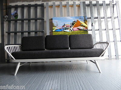 Cushions & Covers Only. Ercol Studio Couch/Daybed.  Charcoal Grey Stitch
