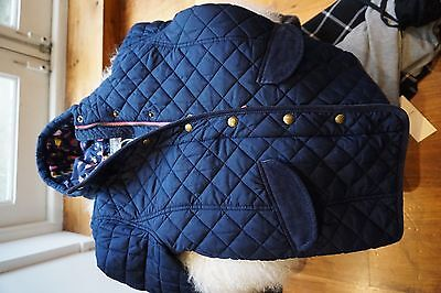 Joules Girls Navy Quilted Jacket Size 9-10 Years