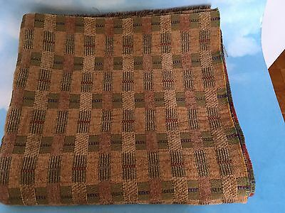 ~1.7 Yds ~ Brown Green Part Upholstery Fabric For Less~Thick