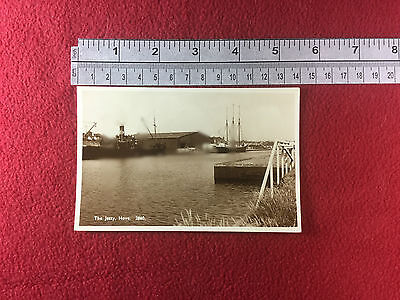 The Jetty Hove Maxwells Wharf merchant ships period vintage postcard