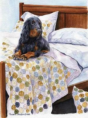 """Bed Sitter"" A Limited Edition Gordon Setter Print"