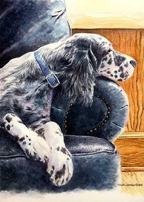 """Couch Potato"" A Limited Edition English Setter Print"