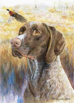 """German Shorthair Head Study II"" A Limited Edition Print"