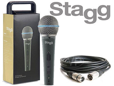 Stagg SDM50 Professional High Quality Handheld Wired Microphone 5M XLR Included
