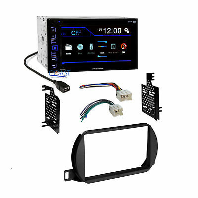 Pioneer Radio Stereo Double Din Dash Kit Wire Harness for Nissan Altima 2002-04