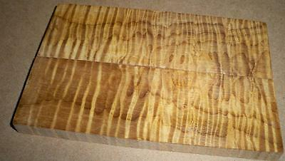 Hades Roasted Maple, Stabilized Curly Figured Knife Scale Handle Wood