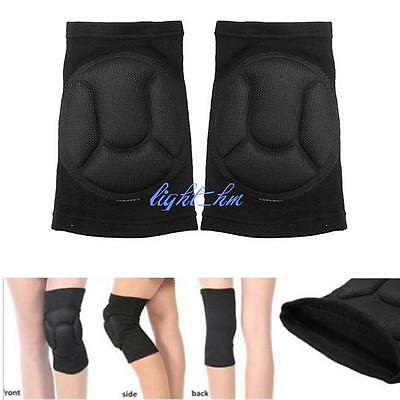 Soft Foam Sport Work Basketball Skiing Protection Support Black Sponge Knee Pads