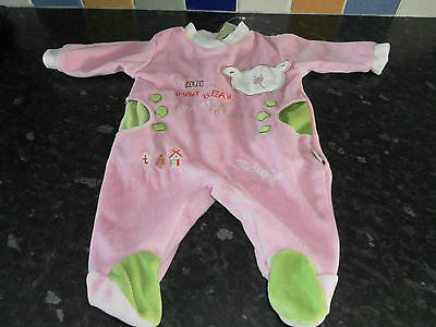Roby baby pink babygrow - Size 1 month BNWT