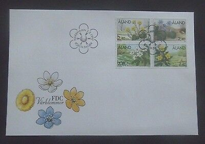 Aland/Finland-1997-Exotic Spring Flowers Block FDC-Mariehamn