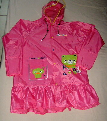 Impermeable Speciale Rose Polyester-Latex - -Raincoat  -Regenmantel Large