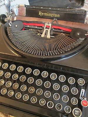 Vintage Remington Portable No.5 Manual Typewriter with Case & Old Instructions