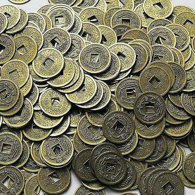 100PCS Feng Shui Chinese Dragon Coins Coin for good Luck PROSPERITY PROTECTION チ