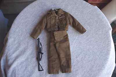 VINTAGE 1960s ACTION MAN UNIFORM VGC AND STIRLING SUB MACHINE GUN