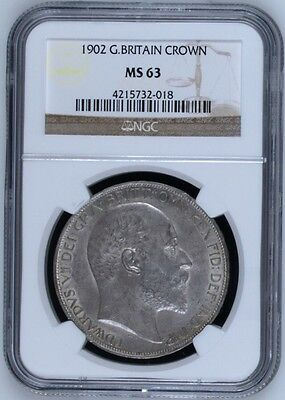 NGC MS-63 1902 Great Britain Crown