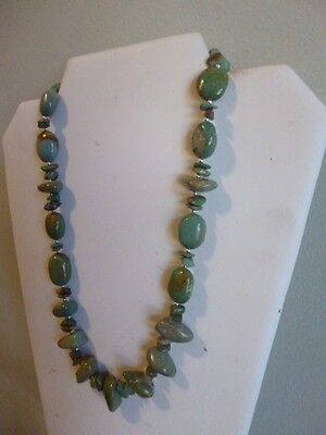 Natural Carico lake Turquoise And Sterling Silver Native American  Necklace