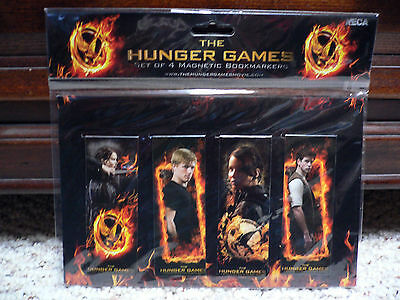 THE HUNGER GAMES Magnetic Bookmarkers Katniss Peeta Gale NEW Stocking Stuffer