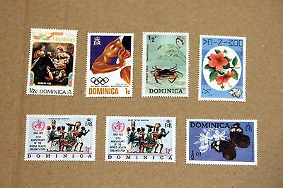 Dominica Stamps - X 7: Inc Montreal Olympics & World Health Org Theme
