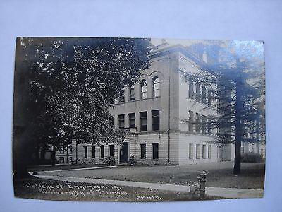 1912 University of Illinois College of Engineering Real Photo Postcard Childs