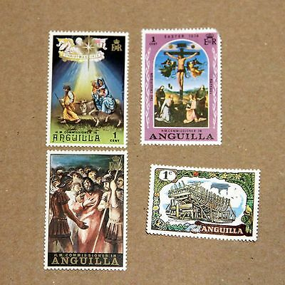 Anguilla Stamps X 4: Christmas/religion Theme
