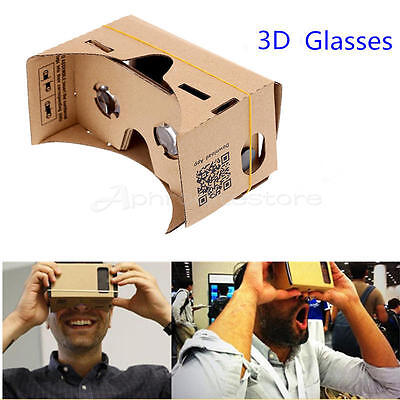 Google Cardboard VR Virtual Reality 3D Glasses For iPhone Android Smartphone