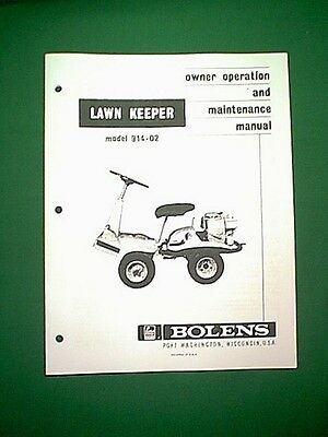 Bolens Lawn Keeper Model 914-02 Owner's Manual