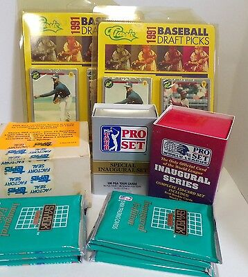 92816-03 Lot of mixed sports cards Modern Era golf,baseball, football, basketbal
