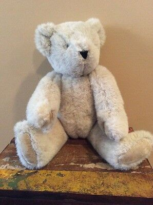 """VERMONT TEDDY BEAR Light Brown Jointed at Leg and Arm 17"""" EUC"""