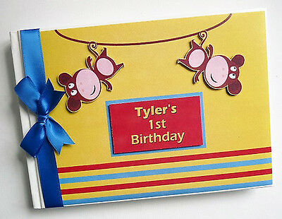 Personalised Cheeky Monkey First / 1St Birthday Guest Book - Any Design