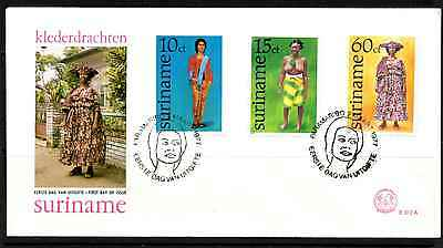 Suriname 1977 Fdc – Traditional Costumes #a0315