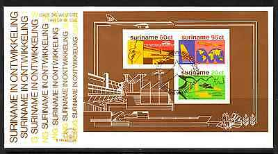 Suriname 1978 Fdc – Development Mini Sheet #a0352