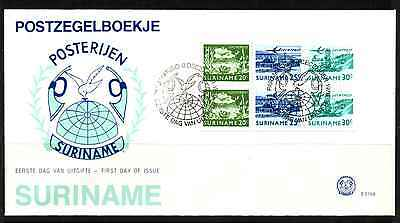 Suriname 1976 Fdc – Airmail Booklet Pane #a0313