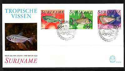 Suriname 1978 Fdc – Tropical Fish #a0350