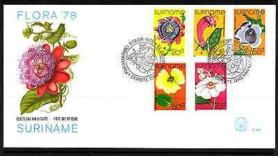Suriname 1978 Fdc – Flowers #a0333