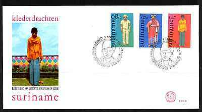 Suriname 1978 Fdc – Traditional Costume #a0346