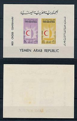 [53323] Yemen 1963 Red Cross Centenary light toned MLH
