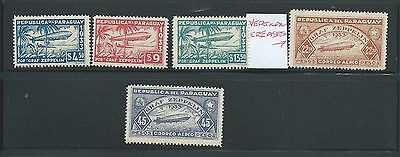 Paraguay 1933 Zeppelin Set Mh See Both Scans For Condition