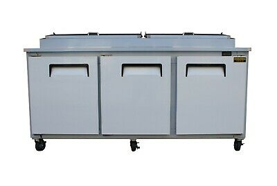 """New 3 Door Refrigerated Pizza Prep Table 72"""""""