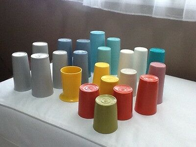 Lot of 24 Vintage Tupperware Assorted Tumblers Variety of Sizes and Colors EUC