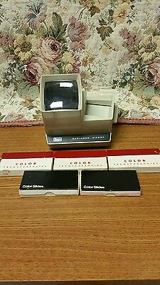 Vintage Sears Easi-Load 2x2 Lighted Slide Viewer #3-99261 with slides