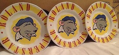 Roland Rat Plates By Midwinter Pottery
