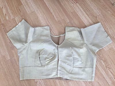 Gold saree blouse size 24 / XL brand new