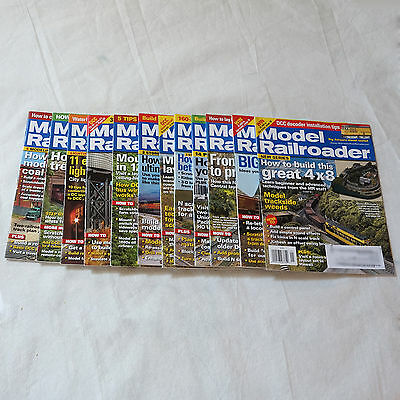 Model Railroader Magazines Hobby Trains Complete Year 12 Back Issues 2012