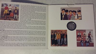 New Kids On The Block Commemorative Collectors Coin 1990 Big Step Production new