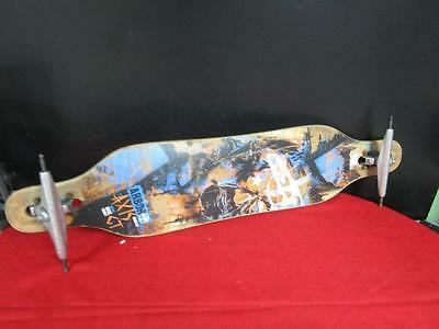 """""""Used"""" Arbor AXIS GT Skateboard Complete - Artist Dave Kinsey - 40"""" Long"""