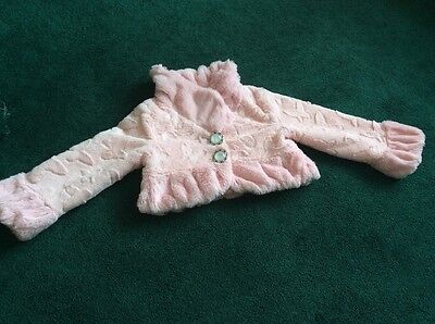 Beautifully Soft Girls Lined Crop Jacket. Pink. Gorgeous. Age 3-4