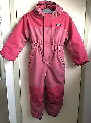 PATAGONIA KIDS Baby Otter Snow Suit AGE 5 PINK Girls Snowboarding Ski All In One
