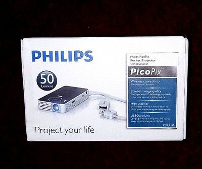 PHILIPS PicoPix PPX4350 WiFi Portable Projector- New