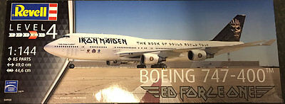 1/144 Revell Boeing 747-400 Ed Force One Iron Maiden Plastic Model Kit
