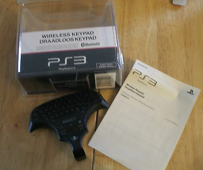 Bn Boxed Sony Playstation 3 Wireless Keypad With Manual Bluetooth
